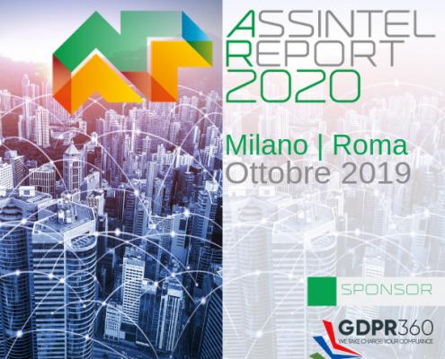Assintel Report 2020 - GDPR360 Main Sponsor